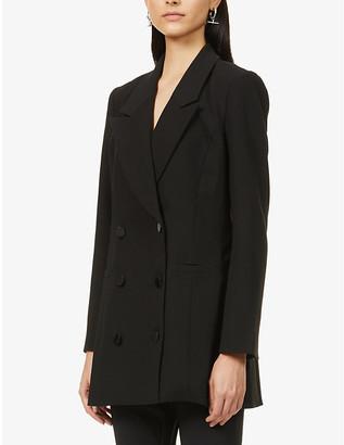 Good American Double-breasted stretch-woven mini blazer dress