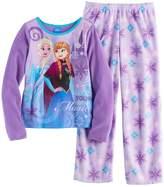 "Disney Disney's Frozen Elsa & Anna ""Make Your Own Magic"" Girls 4-10 Fleece Tee & Bottoms Pajama Set"