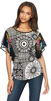 Desigual Women's Yovanna Woman Knitted Short Sleeve T-Shirt