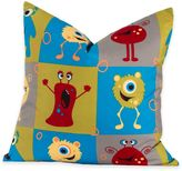 Crayola Monster Friends 18-Inch Square Throw Pillow in Blue