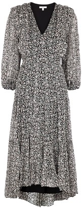 Joie Tobey floral-print silk-georgette midi dress