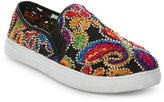 Wanted Black Renoir Embroidered Mesh Slip On Sneakers