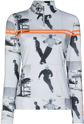 Bogner Beline graphic-print ski top