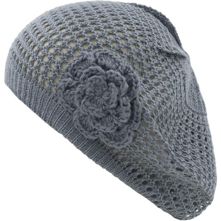 109f9886512f3 Black Knitted Beret - ShopStyle Canada
