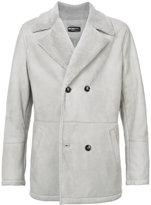 Kiton double breasted shearling coat