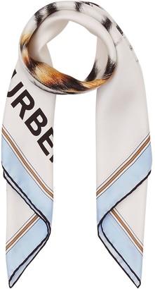 Burberry Animalia print square scarf