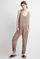 Forever 21 FOREVER 21+ Contemporary Sleeveless Snap-Button Jumpsuit