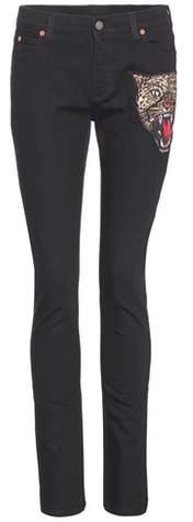 Gucci Appliquéd skinny jeans