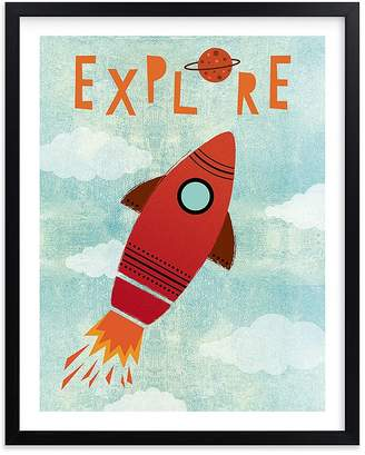 Pottery Barn Kids Explore Your World Art by Minted® 11x14, White