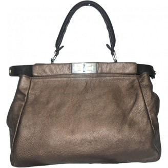 Fendi Peekaboo Metallic Leather Handbags