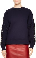 Sandro Natty Embroidered Rhinestone Sweater