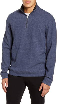 Vince Cotton Blend Quarter Zip Pullover