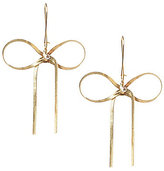 Betsey Johnson Crystal Goldtone Bow Drop Earrings