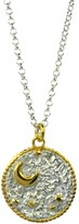 Annabelle Lucilla Jewellery Night's Sky Coin Pendant Silver & Gold