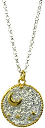 Annabelle Lucilla Jewellery Night's Sky Coin Pendant Silver & Gold