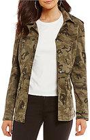Gianni Bini Ryan Military Button Front Jacket
