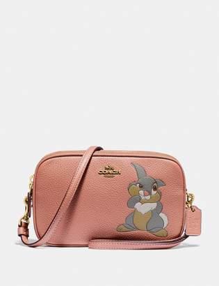 Coach Disney X Sadie Crossbody Clutch With Thumper Motif