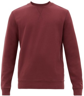 Sunspel Crew-neck Cotton Sweatshirt - Mens - Burgundy