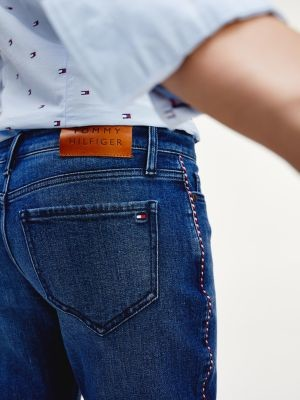 Tommy Hilfiger Rome Straight Fit Contrast Tape Jeans