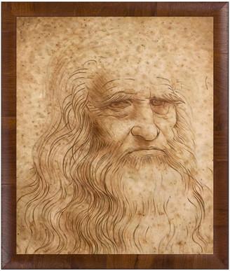 Leonardo Overstock Art La Pastiche By Overstockart Portrait Of A Man In Red Chalk By Da Vinci