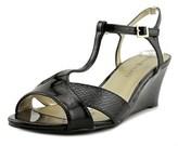Karen Scott Sabinaa Women Open Toe Synthetic Black Wedge Sandal.