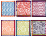 Anthropologie Jacquard Cotton Nifty Napkins, Set of 6, Assorted