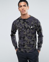 Le Breve Crew Camo Knitwear Sweater