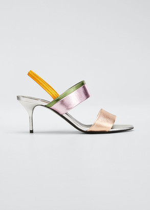 Pierre Hardy Alpha Party Metallic Slingback Sandals