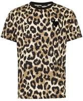 Topman Mens Brown Leopard Print T-Shirt