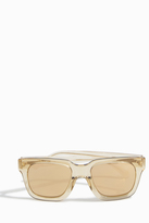 Linda Farrow Luxe Transparent Rectangular Frame