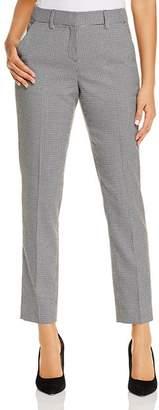 T Tahari Micro-Herringbone Straight Ankle Pants