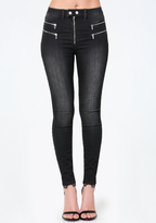 Bebe Zip High Rise Jeans