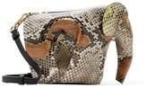 Loewe Elephant Python Shoulder Bag - Snake print