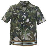 Valentino Green Cotton Tropical Shirt