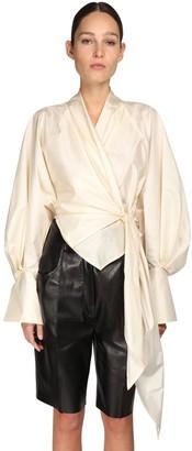 Petar Petrov Wrapped Silk Taffeta Shirt