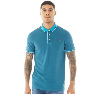 Jack and Jones Mens Challenge Short Sleeve Polo Blue Coral
