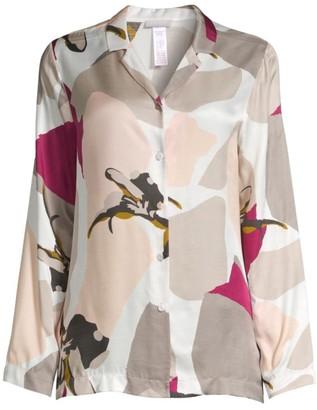 Hanro Phila Graphic Watercolor Floral Pajama Top