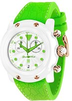 Glam Rock Miami Beach GR2512 46mm Plastic Case Green Silicone Mineral Men's & Women's Watch