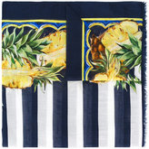 Dolce & Gabbana pineapple pattern scarf - women - Cotton - One Size