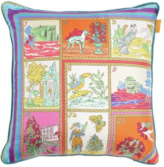 Etro ALCAZABA PRINTED SILK PILLOW