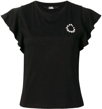 Karl Lagerfeld Paris ruffled T-shirt