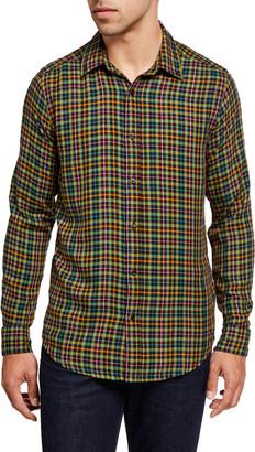 Scotch & Soda Men's Lightweight Check Sport Shirt