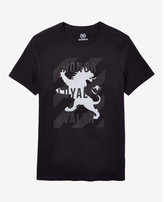 Express honor valor lion graphic t-shirt