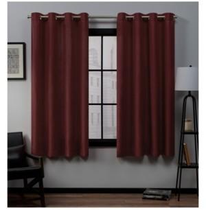 """Exclusive Home Loha Linen Grommet Top Window Curtain Panel Pair, 54"""" x 63"""""""