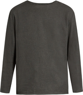 Lemaire Long-sleeved cotton and cashmere-blend T-shirt
