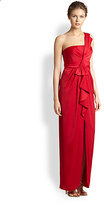 BCBGMAXAZRIA Barbara One-Shoulder Gown