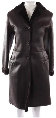 Jil Sander Brown Shearling Coat for Women