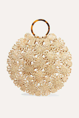 Kayu Net Sustain Hollie Resin And Crocheted Straw Tote - Beige