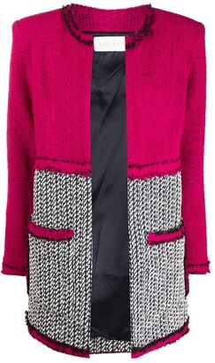 Loulou Panelled Knitted Jacket
