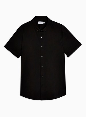 Topman BIG & TALL Black Stretch Skinny Shirt*
